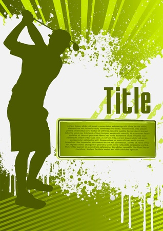 Golf Grunge Poster Template Vector