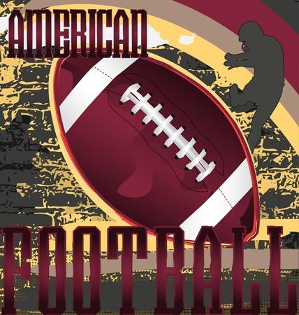 football silhouette: Poster disegno astratto di calcio. Illustrazione vettoriale.