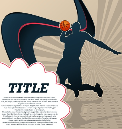 basketball shot: Sport Template Poster Basketball