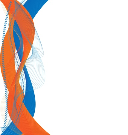 streaks: Abstract orange blue background