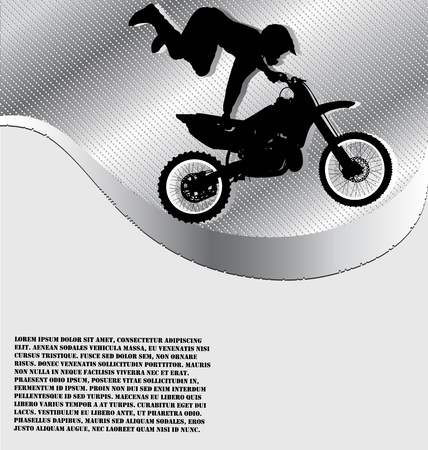 Motorcycle Racing Background Illustration