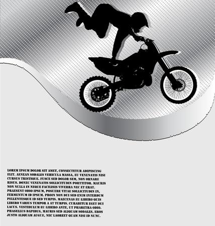 motorsport: Motorcycle Racing Background Illustration