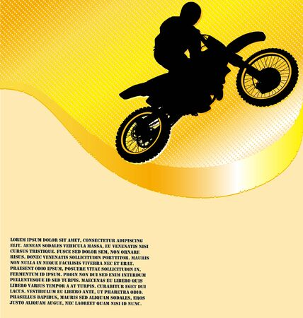 dirt bike: Motorcycle Racing Background Illustration
