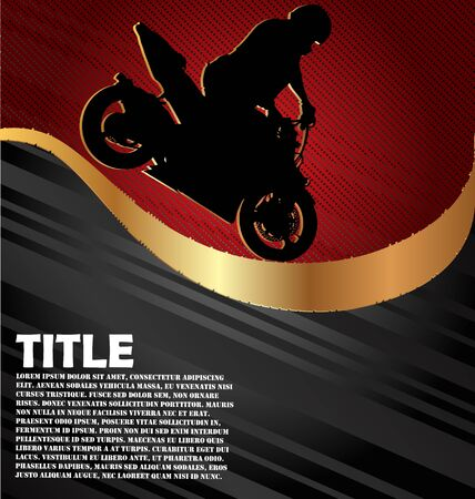 motorsport: Motorcycle Racing Background Illustration