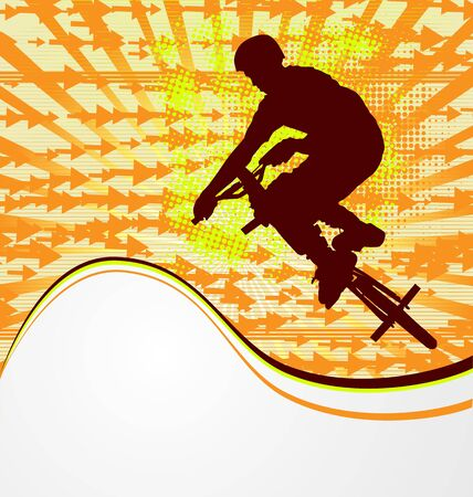 bmx bike: BMX cyclist template vector Illustration