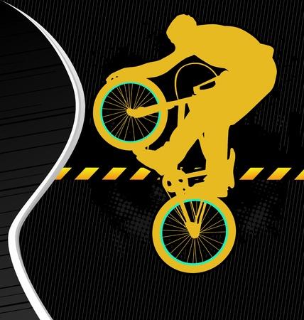 BMX cyclist template vector Vector
