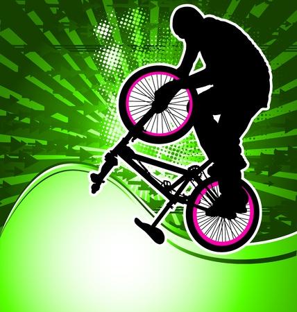 BMX cyclist template vector Illustration