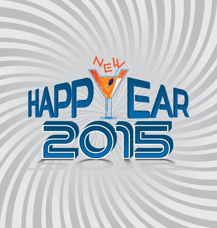 champaign: Happy New Year. 2015. Illustration