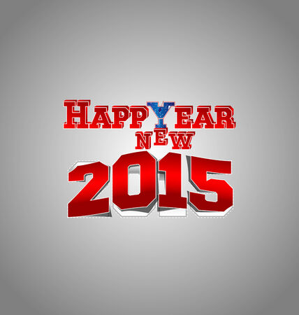 champaign: Happy New Year Vector Background for 2015 with coctail glass instead Y, the peeling effect of 2015 and 3D effect of letters. Illustration