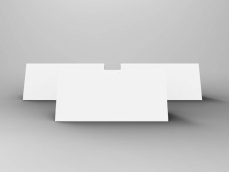 Table Tent 3D Render