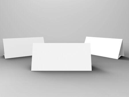 talker: Table Tent 3D Render