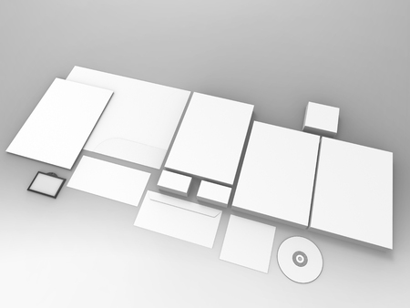 render: Branding Stationary 3D Render