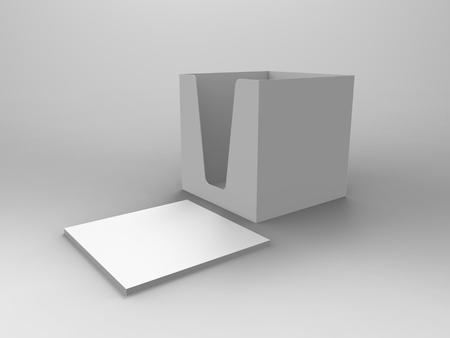 render: Notepad Holder & Notes 3D Render