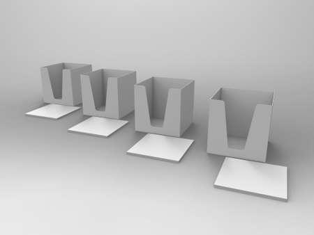 3d render: Notepad Holder & Notes 3D Render