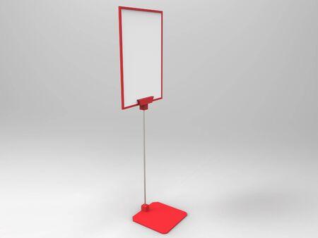 3d render: Flyer Display 3D Render Stock Photo