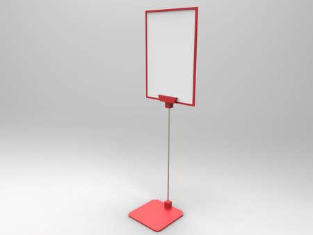 render: Flyer Display 3D Render Stock Photo
