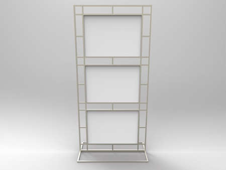 Poster Stand Display 3D Render