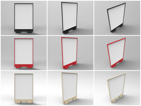 Flyer Display 3D Rende