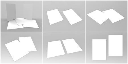 render: Flyer 3D Render Stock Photo