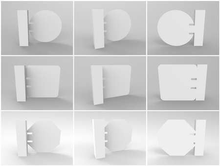 3D Wobbler Render Stock Photo