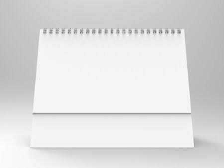 render: Desktop Calendar 3D Render Stock Photo