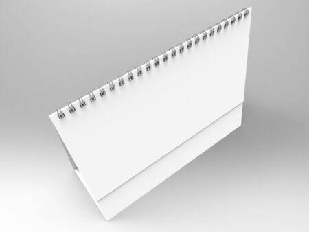 Desktop Calendar 3D Render Stock Photo