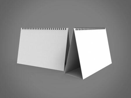 Desktop Calendar 3D Render is a professional 3D render created with a 3D model of a 210 x 145 mm spiral desktop calendar.