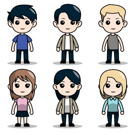 cute character design avatar boys and girls