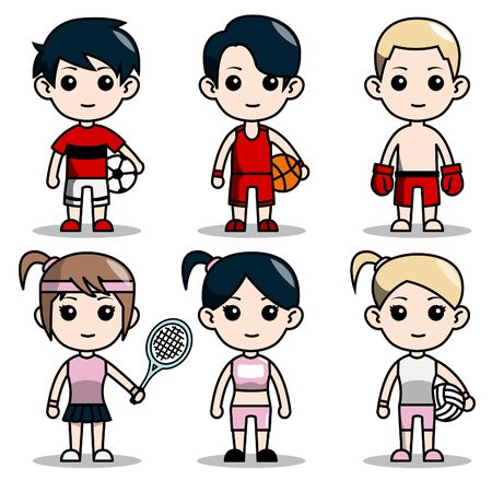 cute character design avatar sports editions