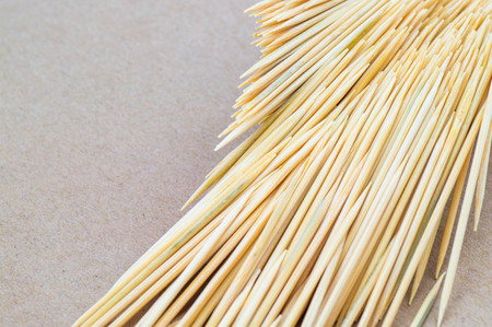 Close up view of fallen out toothpicks photo
