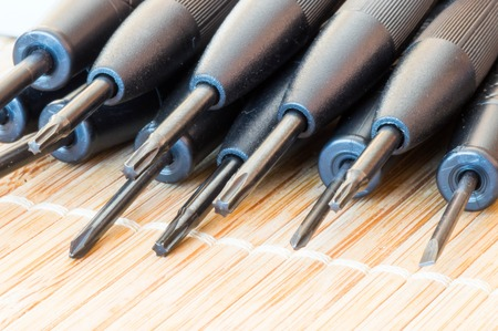 philips: Torx, flat and Philips precious screwdrivers in lateral view