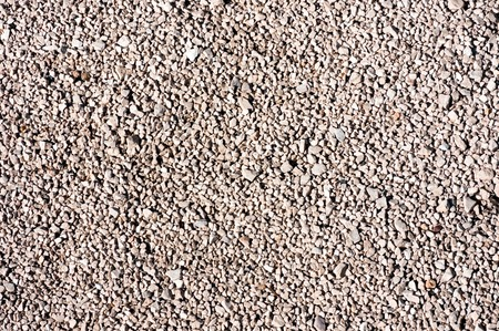 Upper view of road made of gravel