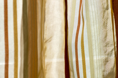 Golden color scale curtain on daylight