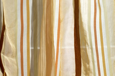 Brown color scale curtain in daylight