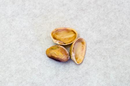 Macro shot of an opened pistachio nut