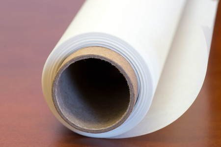 Roll of white paper