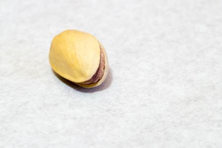 Macro shot of pistachio nut Stock Photo