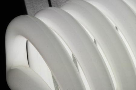 lumen: Energy saver bulb spirals Stock Photo