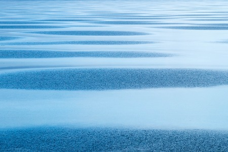 Iced lake surface