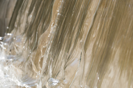 Water flowing on marble fountain Stock Photo