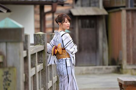 Koedo Sawara and Yukata Woman