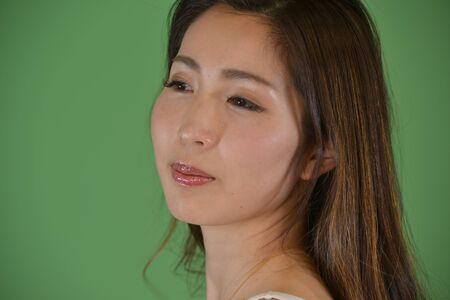 Beautiful Japanese Woman's Expression Stock Photo