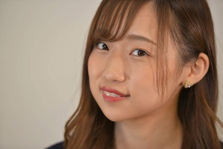 The expression of a pretty Japanese woman 写真素材