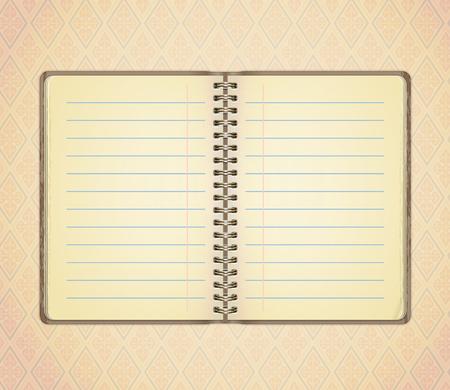 spread: Blank opened notebook Illustration