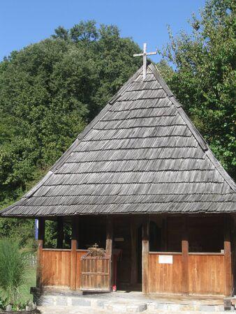 ortodox: Rustic wooden church