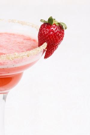 margarita glass: Strawberry cocktail in a margarita glass