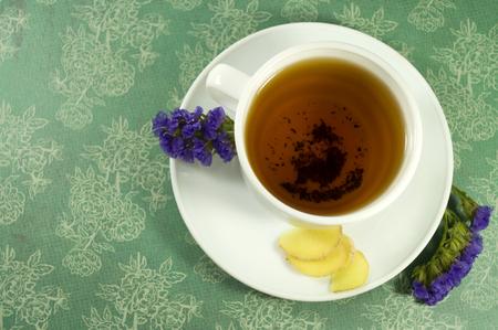 tea with ginger Banco de Imagens