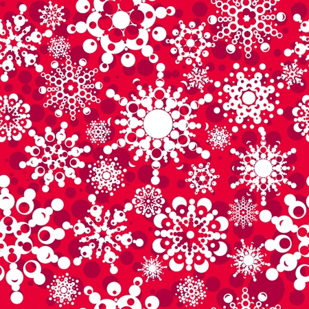 seamless pattern with snowflakes  layered vector for easy manipulation  Eps 8