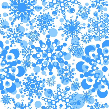 seamless pattern with snowflakes  layered vector for easy manipulation  Eps 8 Stock Vector - 16798218