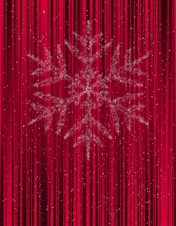 christmas background with snowflake    Illustration